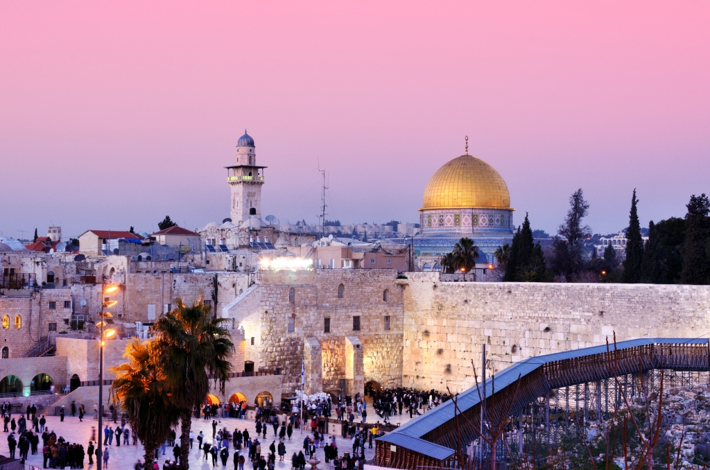 Hebrew Translation Services- Dome of the Rock and Western Wall in Jerusalem, Israel
