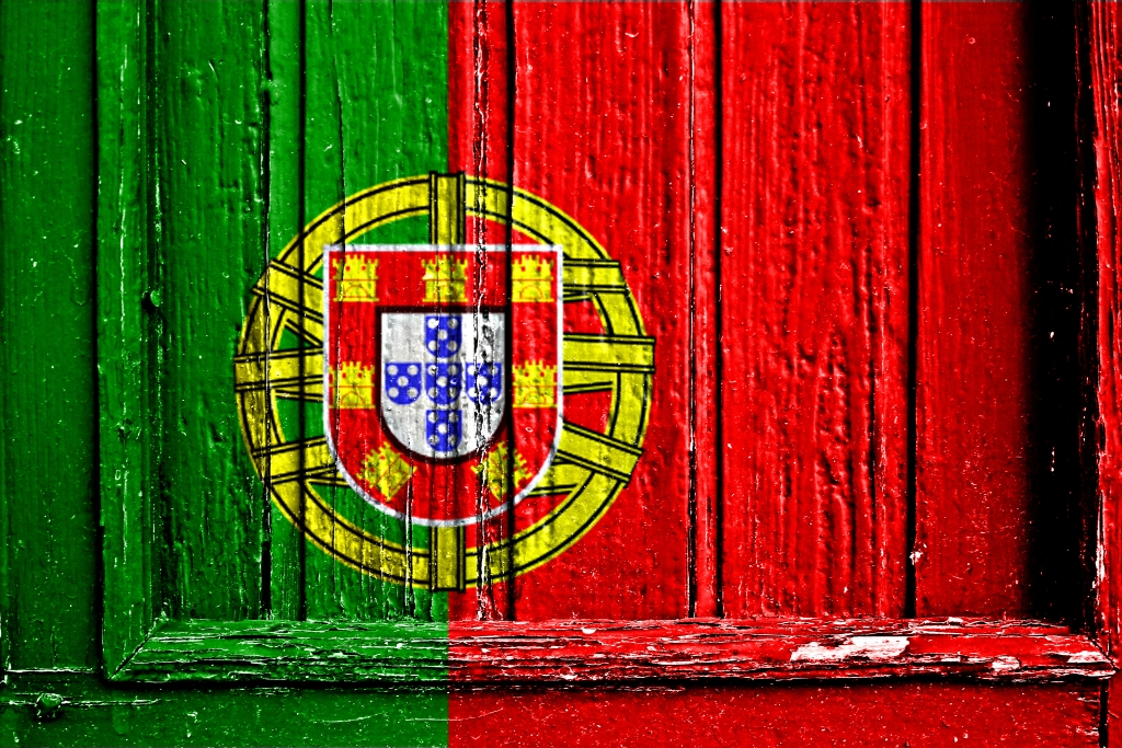 Portuguese Translation Services- Flag of Portugal painted on wooden frame
