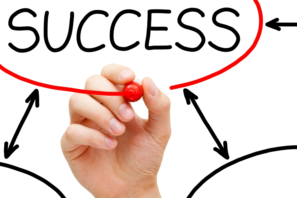 success being circled in red-web