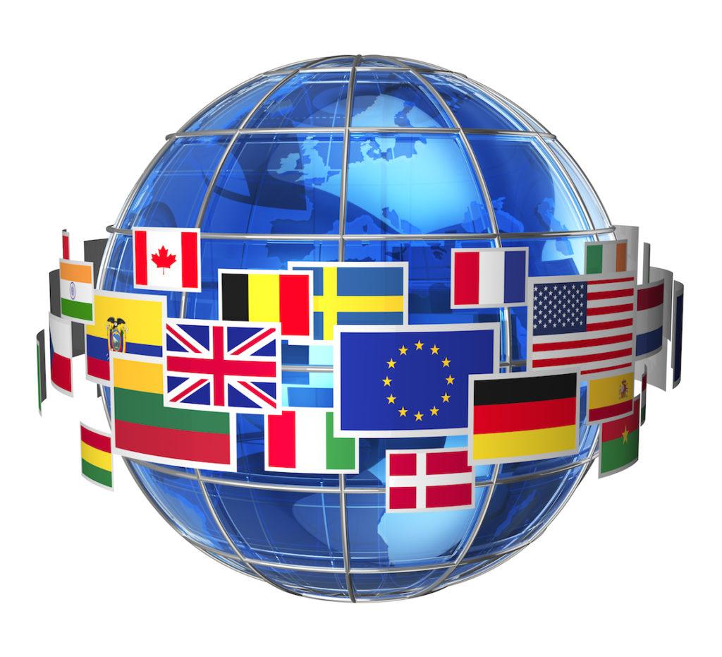 Worldwide international communication concept