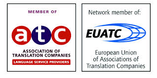 association of translation companies and european Union of associations of translation companies logos