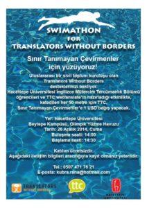 Swimathon for translators without borders