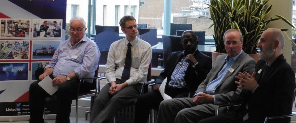 Panelists at East London Export Club including Levent Yildizgoren, managing director of TTC wetranslate