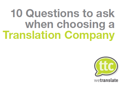 10 questions to ask when choosing a translation company