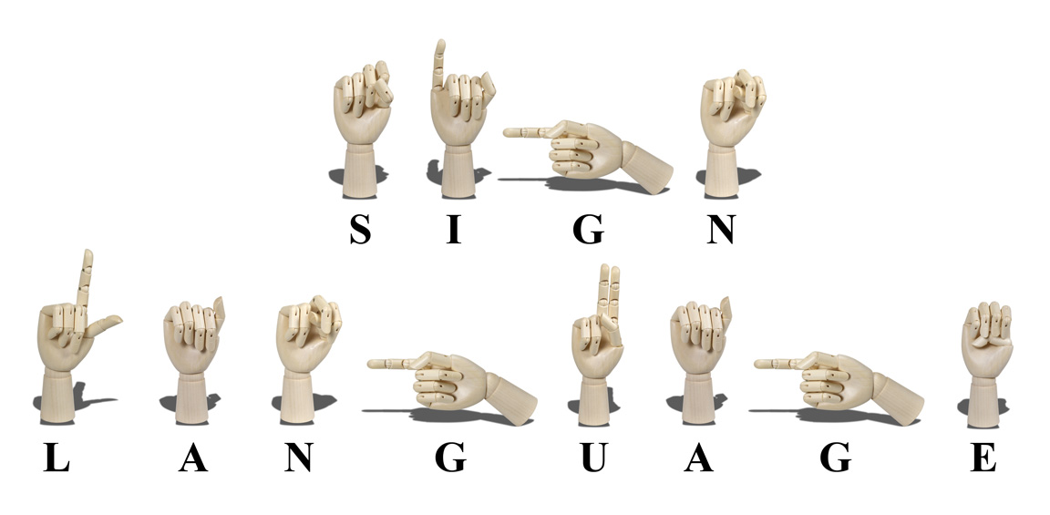 How say sign language in sign language / British Sign language