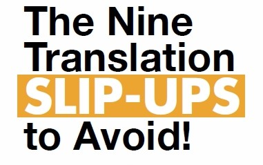 9 translation slip ups to avoid booklet's cover page