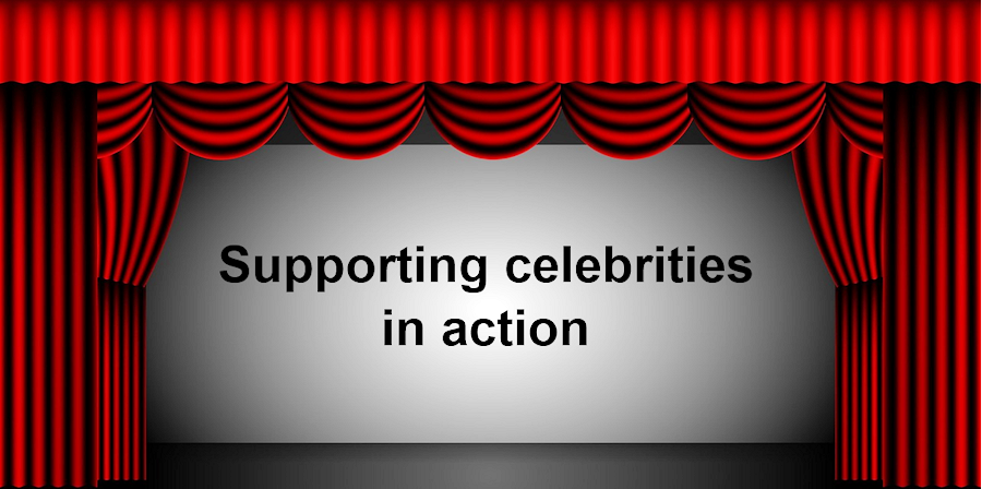 Supporting celebrities in action