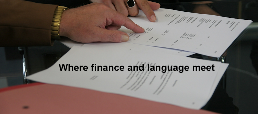 Where finance and language meet