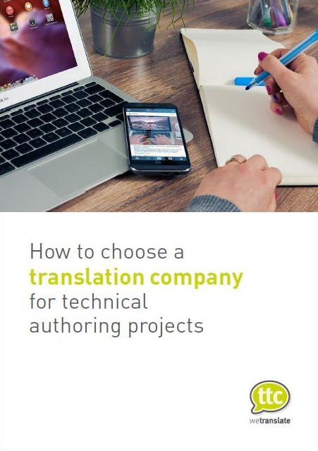 How to choose a translation company for technical authoring projects cover