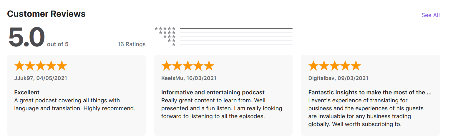 conquer new markets apple podcast customer reviews